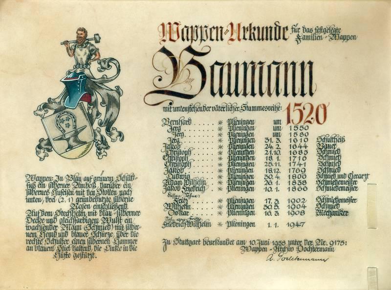Gründung des Unternehmens durch Christoph Baumann im heutigen Stuttgart-Plieningen als Huf- und Wagenschmiede