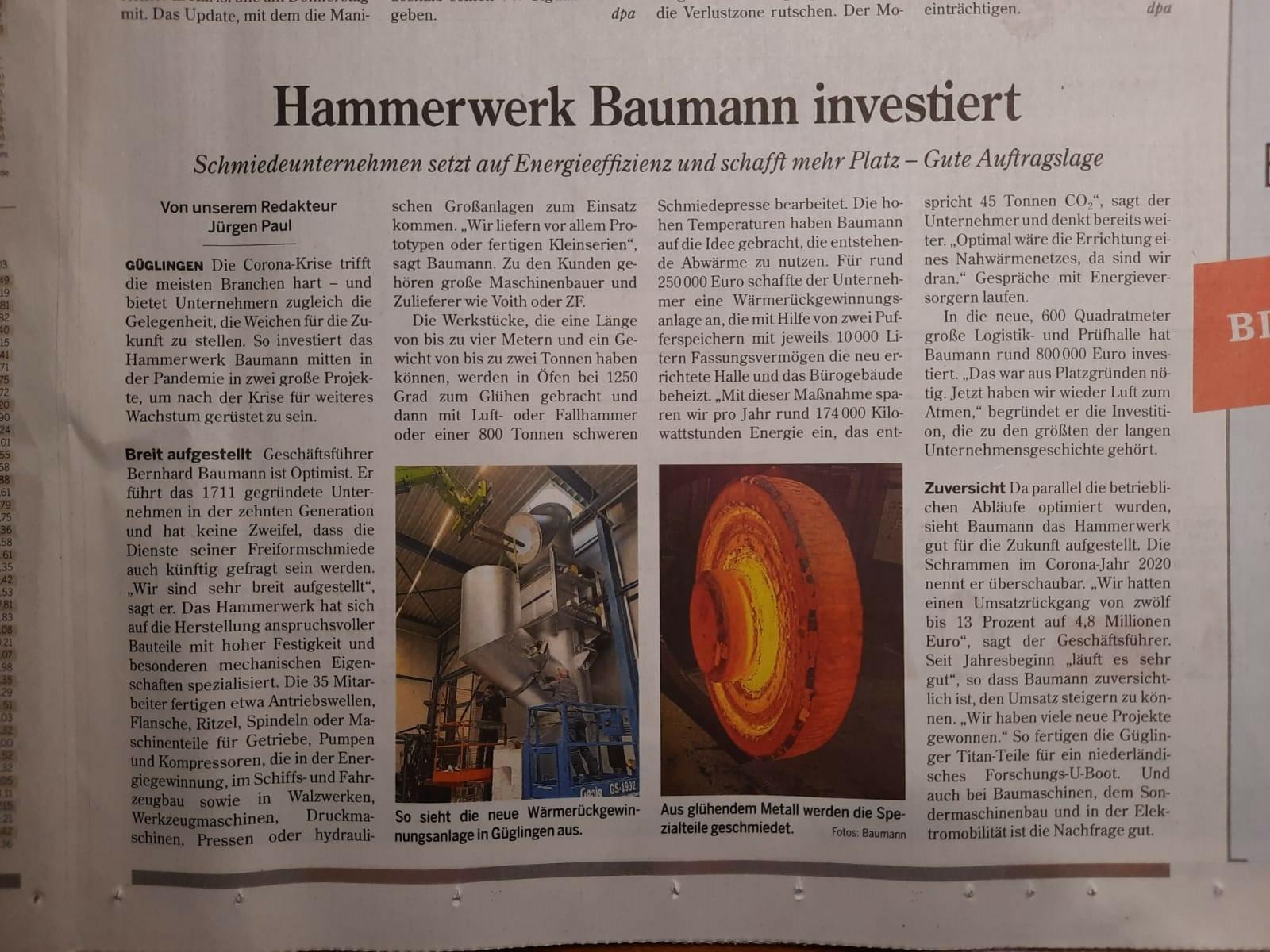 Artikel der Heilbronner Stimme